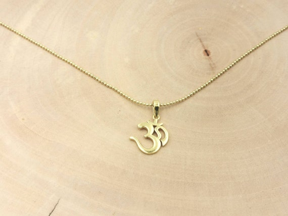 Big Om Pendant 18k Gold Plated 925 Silver with Chain