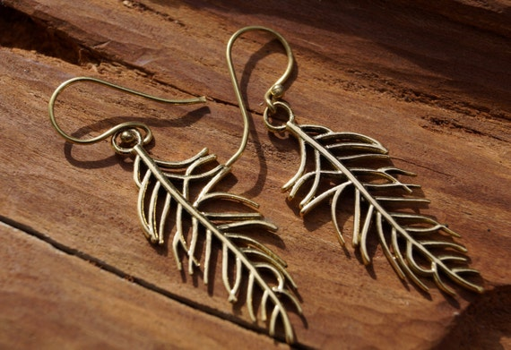 "Boho Earrings ""Little Feather"""