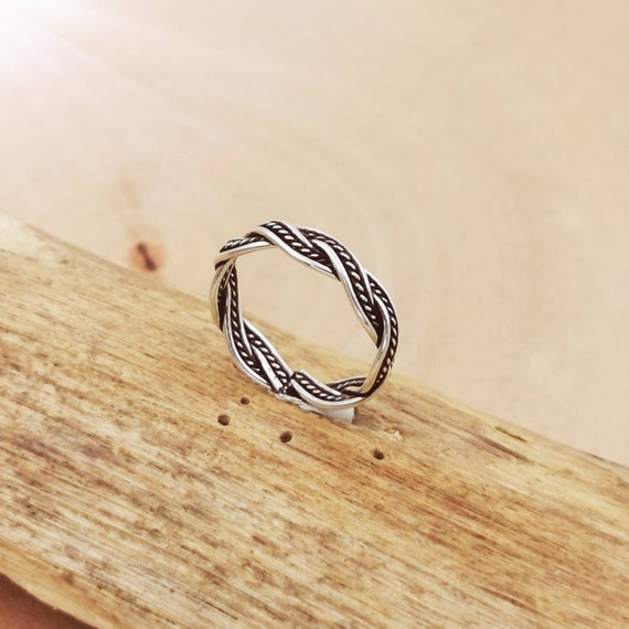 Celtic Braided Unisex Ring 925 Silver