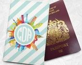 Personalised Custom Name Passport Cover Passport Holder with FREE Name Printing (BBS037)