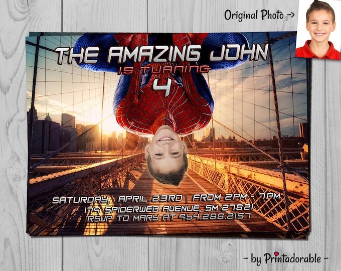 Spiderman Invitation - Spiderman Invite - Amazing Spider man - Spiderman - Amazing Spiderman - Spiderman Party - Avengers Invitation