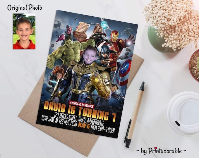 Thanos Invitation - Avengers Invite - Thanos Invite - Infinity Wars Invite - Supervillain Invite - Avenger Invitation - Thanos Printables