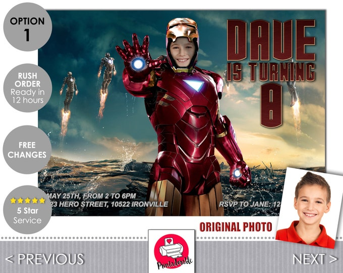 Iron Man Invitation - Iron Man Invite - Iron Man - Avengers Invitation - Avengers Invite - Tony Stark - Avengers - Iron Man Birthday