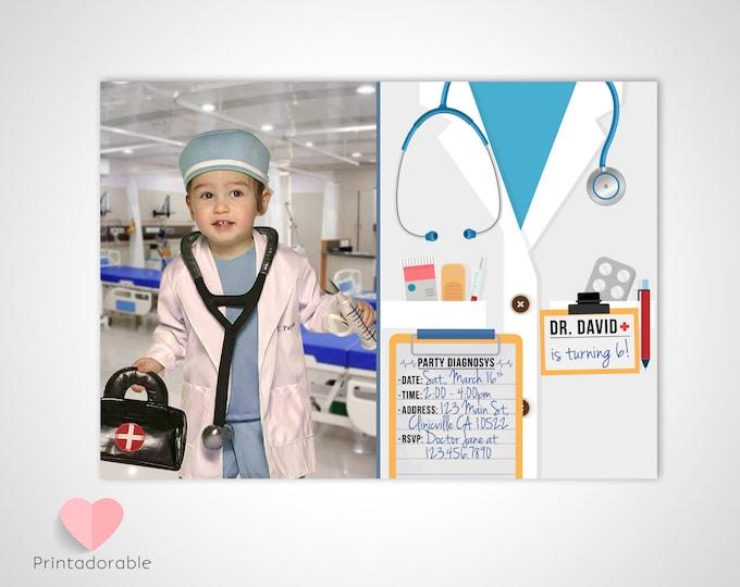Doctor Scrubs Invite • Medic Invitation • Doctor Invitation • Medic Invite • Hospital Invite • Hospital Invitation • Medical Invitation