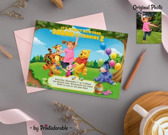 Winnie Pooh Invite, Winnie Invite, Winnie the Pooh,  Winnie Pooh, Pooh Invitation, Winnie Invitation, Pooh Invite, Winnie Birthday