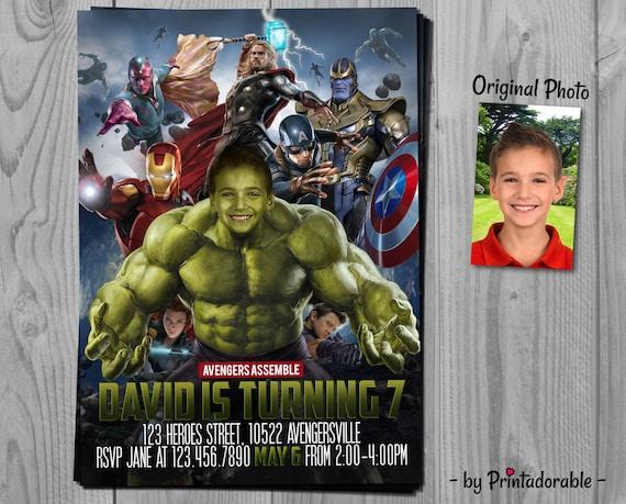 Hulk Invitation - Avengers Invite - The Hulk - Infinity Wars Invite - Hulk Invite - Avenger Invitation - Hulk Printables - Incredible Hulk