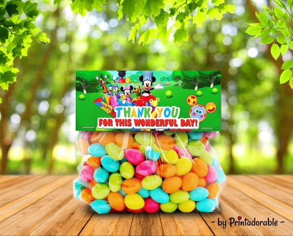 Mickey Candy Topper - Mickey Goodie Bag - Mickey Candy Bag - Mickey Treat Bag - Mickey Candy - Mickey Party Kit - Mickey Party Set