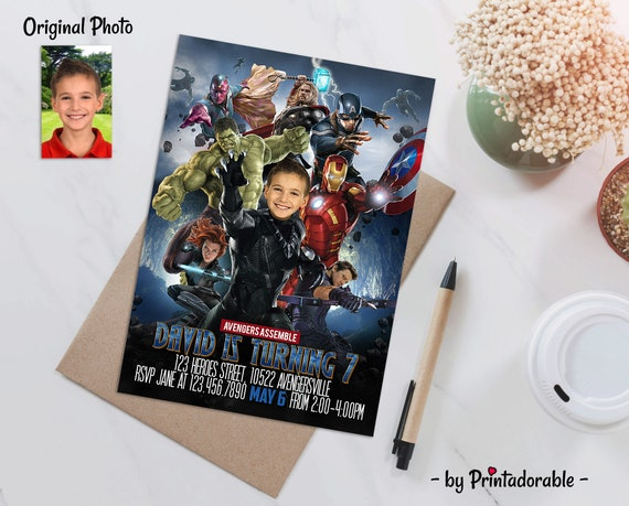 Avengers Invitation, Black Panther Invite, Infinity Wars, Black Panther Invitation, Avengers Invite, Black Panther Party, Black Panther