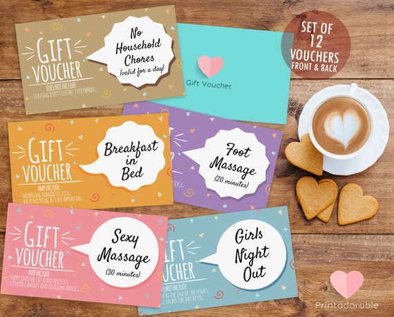 Romantic Coupons, Romantic Vouchers, Love Coupons, Love Vouchers, Gift for Her, Romance Coupons, for wife, for girlfriend, inexpensive gift