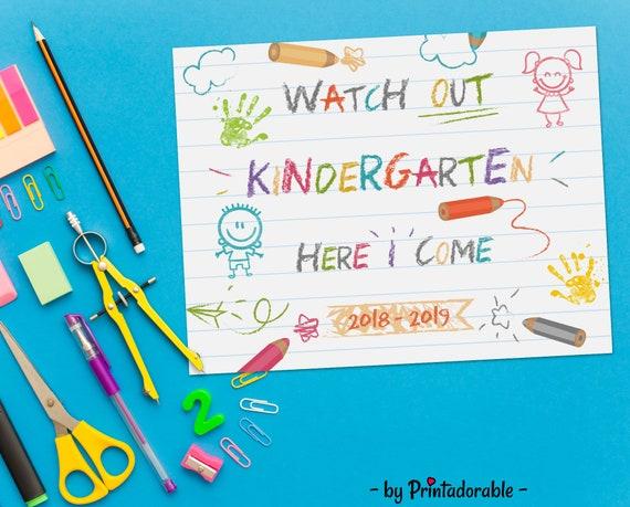 Kindergarten Sign, First Day of School, First Day School, First Day Sign, Preschool Sign, Back to School, School Sign, Back to School Sign
