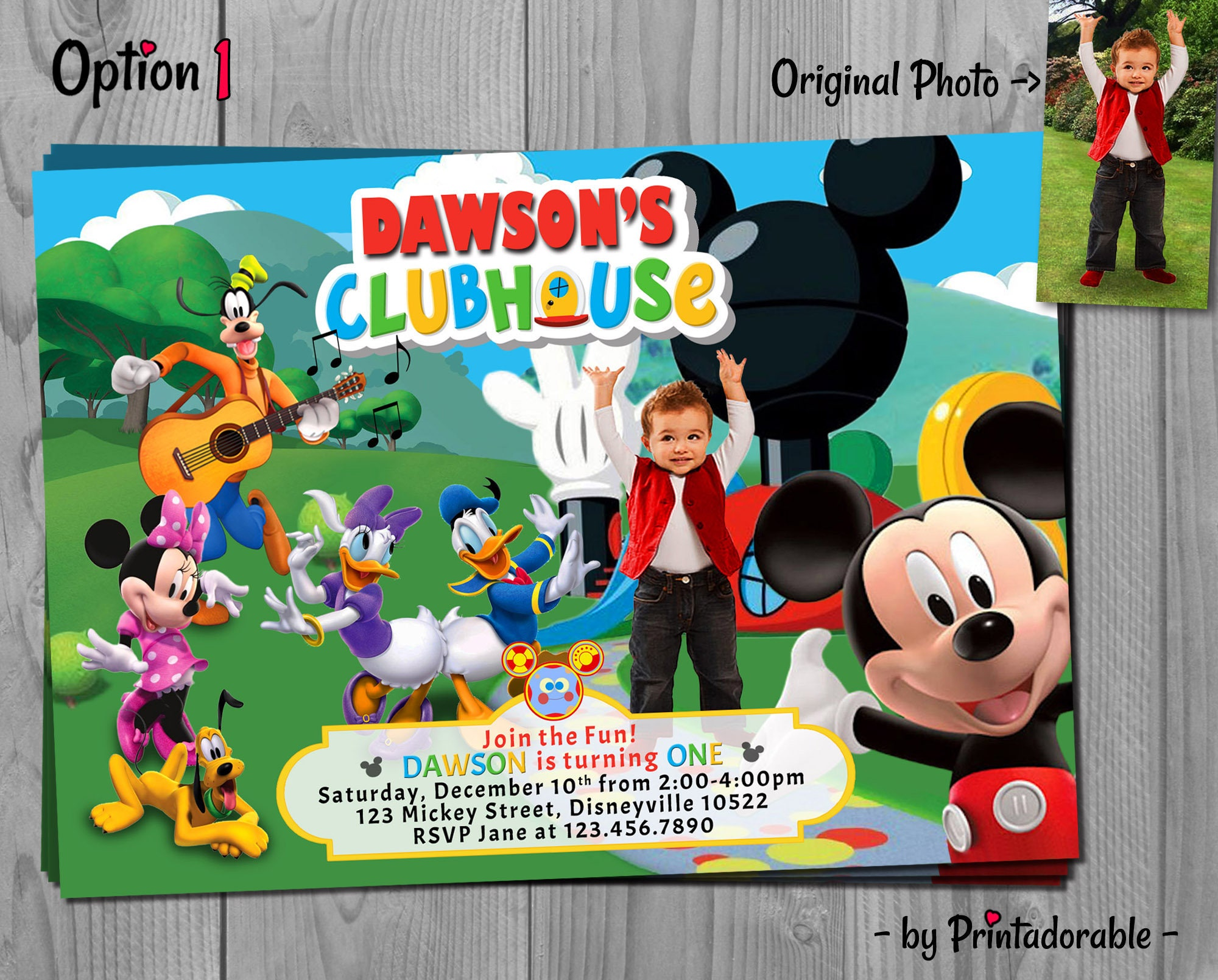 Mickey Mouse Clubhouse Invitation Mickey Clubhouse Mickey