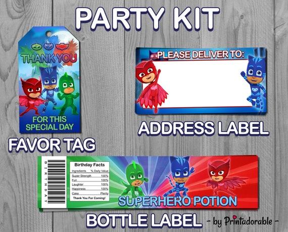 PJ Masks Party Set Pj Kit Birthday