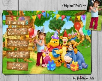 Winnie the Pooh Invitation - Winnie Invite - Winnie the Pooh -  Winnie Pooh - Pooh Invitation - Winnie Invitation - Pooh Invite