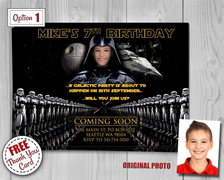 Star Wars Invitation Star Wars Invite Darth Vader Invite Kylo Ren