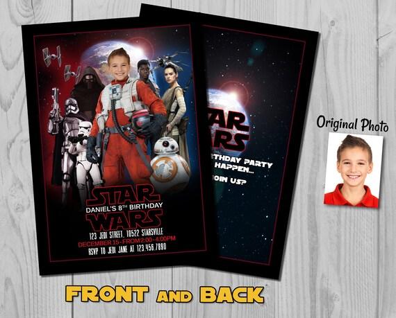 Star Wars Invitation - Last Jedi Invite - Star Wars Invite - Star Wars - Last Jedi - Poe Invitation - Poe Invite - Jedi Invite - Space Pilot