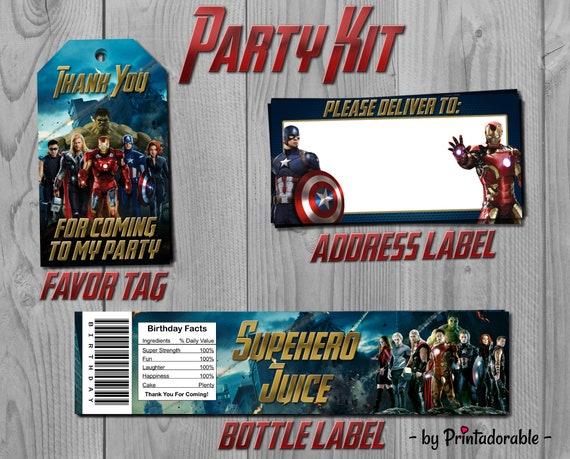 Avengers Party Set - Avengers Party Kit - Iron Man Party Kit - Iron Man Party Set - Captain America Kit - Avengers Printables - Avengers Tag