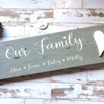 Personalised family sign, family pallet sign, personalised grey family sign, grey home decor, pallet sign, Mother's Day gift, housewarming