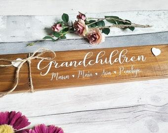 PersonalIsed grandchildren Sign, GRandparents SIgn, gift for grandparents, personalised Sign