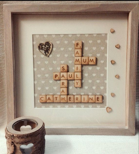 Rustic family tree personalised family frame wedding gift