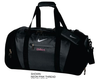 b7b87b4c82e64f Personalized Gym Bag, Nike Duffel Bag, Custom Travel Bag, Monogrammed Sports  Bag, Team Bag, Custom Workout Bag for Her. TG0240