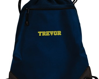 6aa7f76d8 Personalized Cinch Bag, Personalized Gift Bag, Embroidered Drawstring Bag,  Monogrammed Book Bag, Custom Bag, Gift for Her and Him. BG810