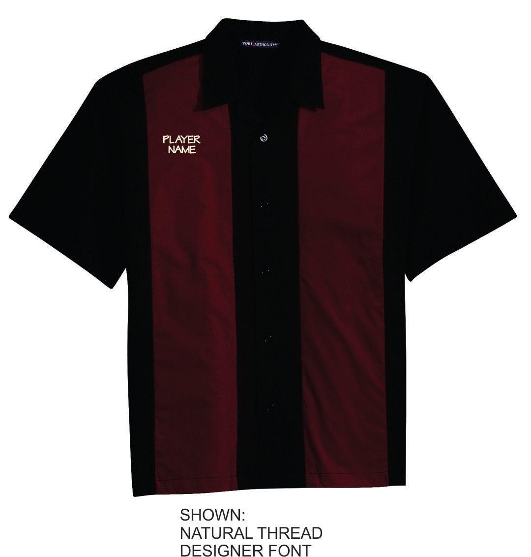 Personalized Bowling Shirt Custom Bowler Name Monogrammed Etsy