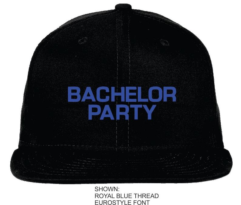 9be727595c9 Personalized Bachelor Party Snapback Cap New Era Flat Bill