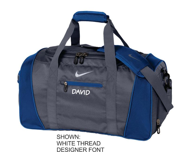 Personalized Duffel Bag Nike Gym Bag Custom Travel Bag  21fb626334fd7