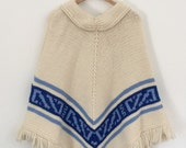 1960s Vintage Hand Knit Poncho