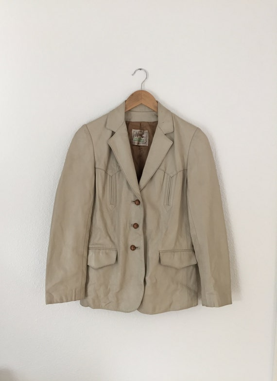 1960s Vintage H Bar C Leather Jacket - image 1