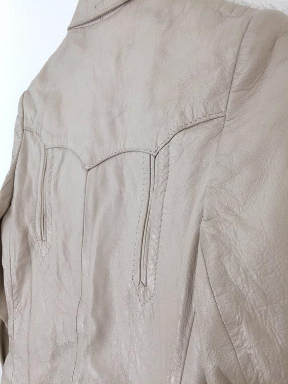 1960s Vintage H Bar C Leather Jacket - image 5