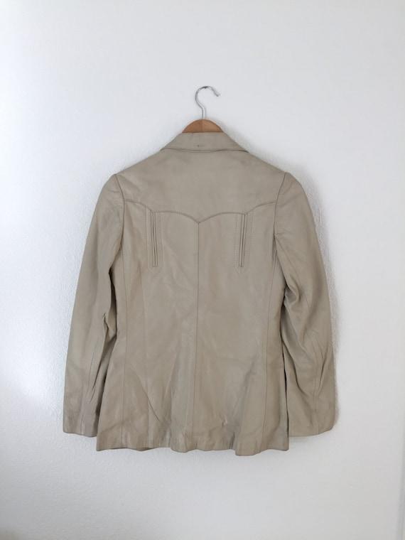 1960s Vintage H Bar C Leather Jacket - image 4