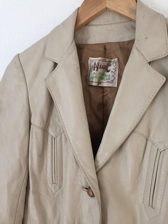 1960s Vintage H Bar C Leather Jacket - image 2