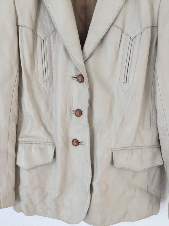 1960s Vintage H Bar C Leather Jacket - image 3