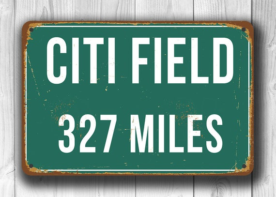 f9adfe5c PERSONALIZED CITI FIELD Distance Sign, Citi Field Miles Miles, New York  Mets, Green Miles Sign, Distance Signs, New York Mets Decor, Mets