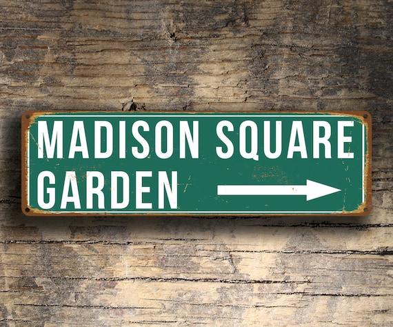MADISON SQUARE GARDEN Sign Vintage style Madison Square   Etsy