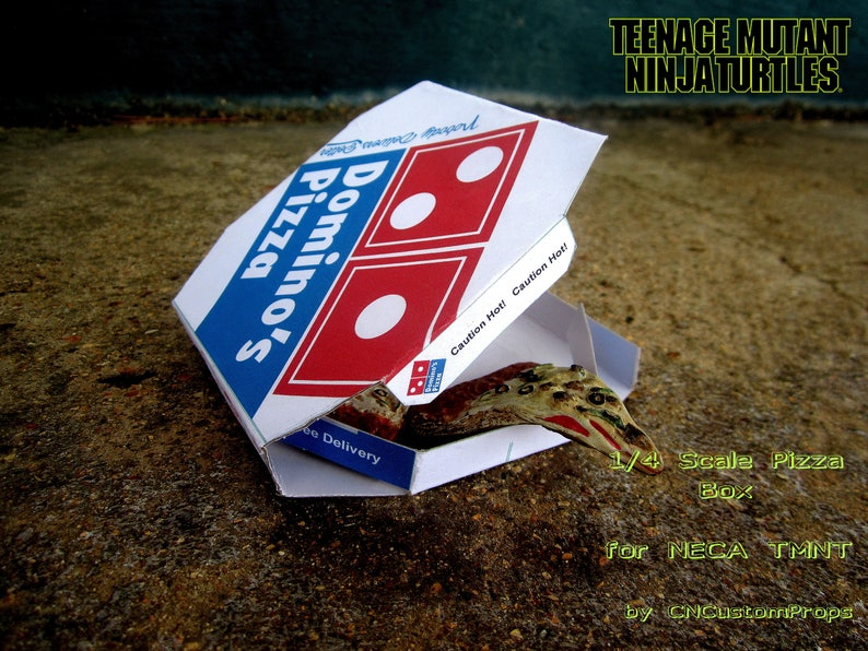TMNT 14 Scale Pizza Box NECA Custom Accessory