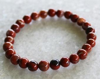 Red River Jasper Bracelet / Healing Crystals / Chakra Mala  /Spiritual Reiki / Free US Shipping / Moonlit Crystals
