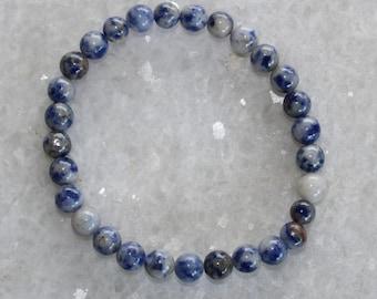 Blue Spot Jasper Bracelet / Healing Crystals / Chakra Mala  /Spiritual Reiki / stacking bracelets / Mala Bracelet / Moonlit Crystals