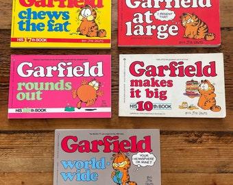 Vintage 1980s Garfield Books