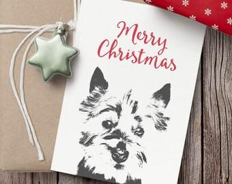 West Highland Terrier Christmas card- Blank Christmas card, Christmas card, Westie terrier greeting card, West Highland Terrier card