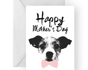 Jack Russell Mother's Day card- dog Mother's Day card, dog card, Mother's Day card, cute Jack Russell card, Jack Russell card
