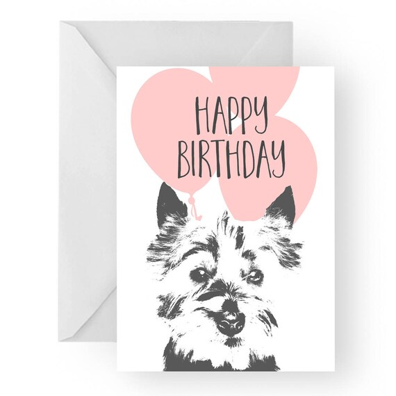 Westie Blank Birthday Card Westie Greeting Card Dog Card