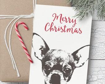 Chihuahua Christmas card- Blank Christmas card, Chihuahua Christmas, Chihuahua gift card, Chihuahua gift, Christmas card