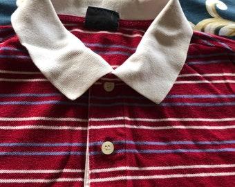 8999e211f Vintage ladie s striped Le Tigre polo shirt