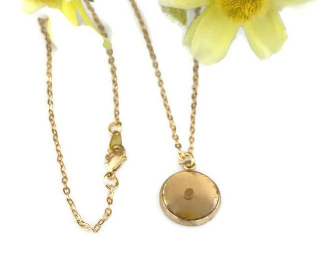 Faith of a mustard seed delicate gold necklace with real mustard seed, Mother's Day Gift, Gold circle necklace with mustard seed