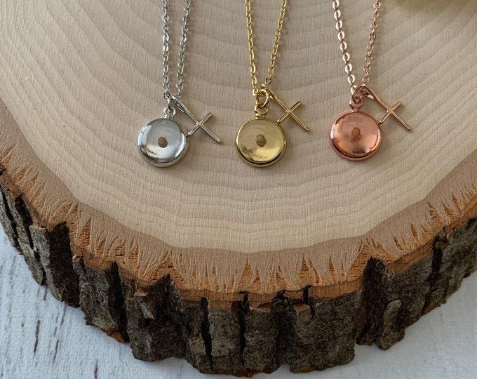 Faith of a mustard seed necklace, gold silver or rose gold mustard seed necklace, Christian gift for Women, Faith Necklace