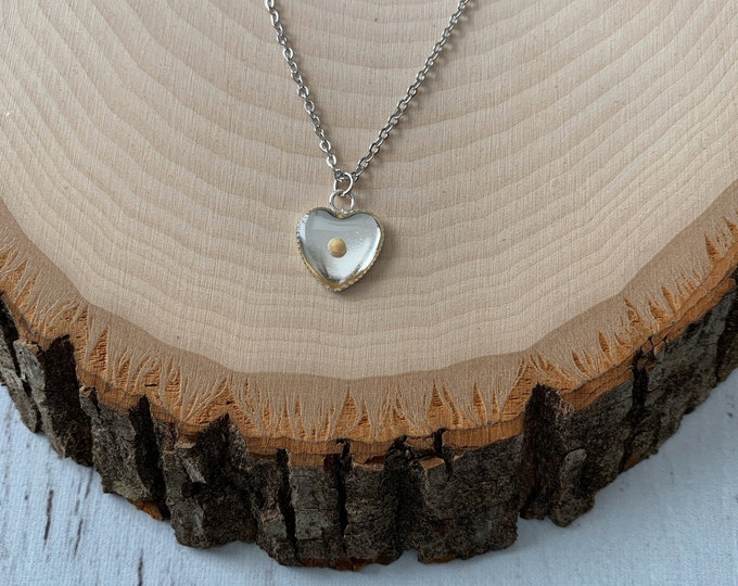 Silver heart mustard seed necklace for her, Religious birthday,  Gift of hope for Her, Faith Necklace, Mothers Day Gift Religious