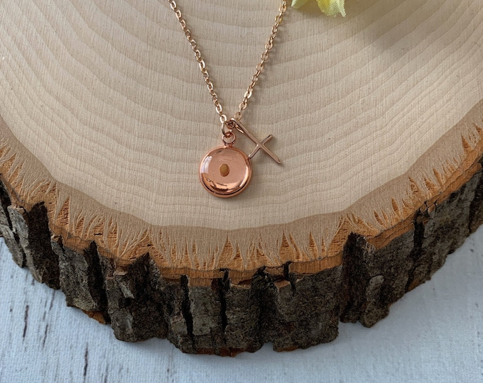 Faith of a mustard seed necklace in rose gold,  Rose gold faith necklace with mustard seed, Religious gift for her, Mothers Day Gift for her