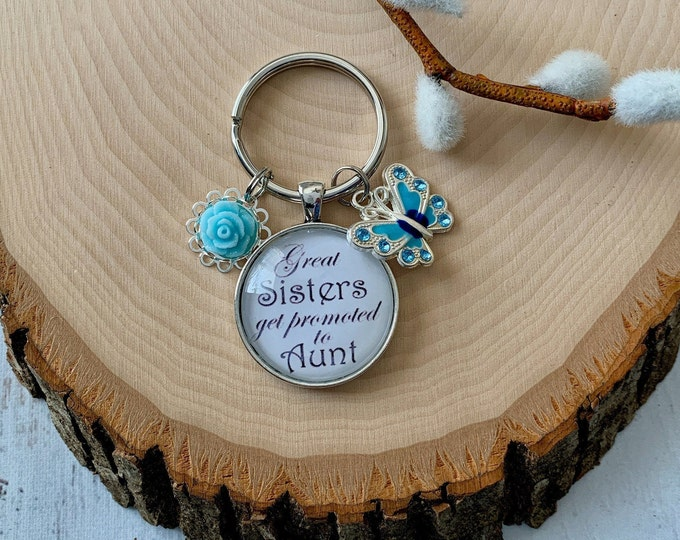 Sister promoted to Aunt keychain, Rainbow baby keychain for Aunt, Keychain for new Aunt, For this child I prayed keychain, 1 Samuel 1 27